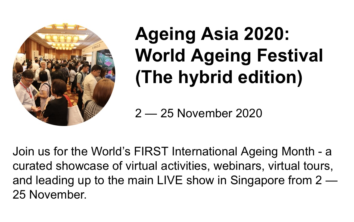 Dr. Becker one of the key note speakers World Aging Asia Congress November 2020
